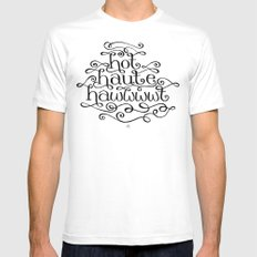 Hot Haute Hawt White SMALL Mens Fitted Tee