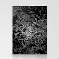 Paris Map #2 Stationery Cards