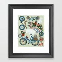 B is for Bicycle! (and polar bears) Framed Art Print