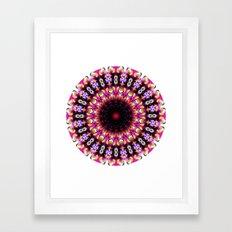 Color Wishes Mandala Framed Art Print