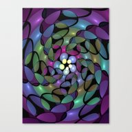 Canvas Print featuring Fractal To The Centre by Gabiw Art
