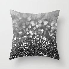 Ebony Sparkle Throw Pillow