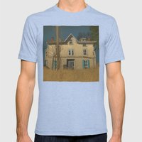 Abandoned Mens Fitted Tee Tri-Blue SMALL