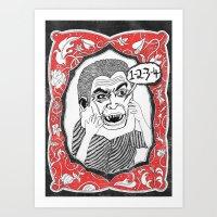 Count. Art Print