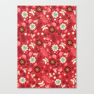 Fresh Blossoms (Reds) Canvas Print