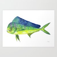 Mahi Mahi Art Print