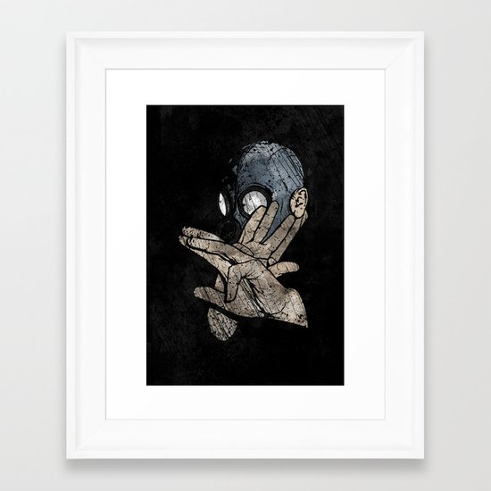 I Know Karate Framed Art Print