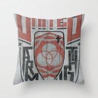 UNITED SHIELD Throw Pillow