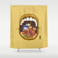 Untitled Mouth  Shower Curtain