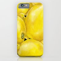 iPhone & iPod Case featuring Fresh Lemons by Jennifer Lambein
