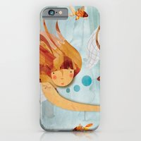 iPhone & iPod Case featuring Into the Fishpond by Pippa Curnick