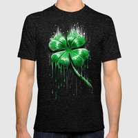 Melting Luck Mens Fitted Tee Tri-Black SMALL