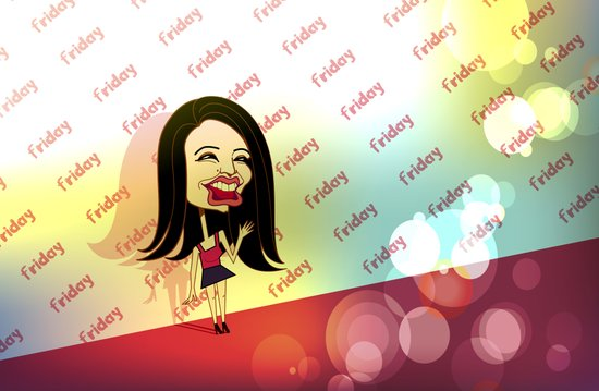 Rebecca Black Hits the Red Carpet Art Print