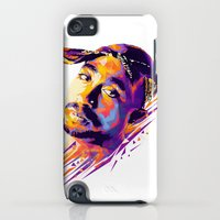 iPod Touch Cases featuring 2pac: Dead Rappers Serie by Largetosti