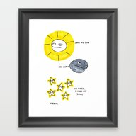 My Sun, My Moon, My Tire… Framed Art Print