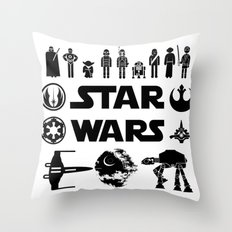 Star Characters Wars Throw Pillow