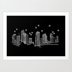 Houston, Texas City Skyline Art Print