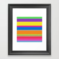 Candy Stripes. Framed Art Print