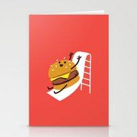 Slider Burger Stationery Cards