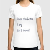 Dean Winchester Is My Sp… Womens Fitted Tee White SMALL