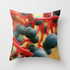 Wild Berries of the Don Throw Pillow