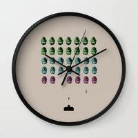 Faceinvaders Wall Clock