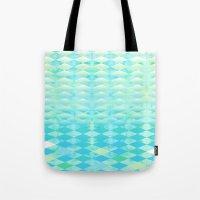 Aqua Watercolor With Omb… Tote Bag