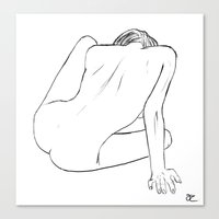 Nude Figure Study Canvas Print
