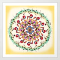 mandala Art Prints featuring Mandala  by famenxt