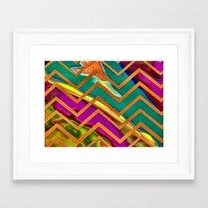 Alien Sun Chevron Framed Art Print