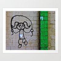 Jump Rope Street Art Art Print