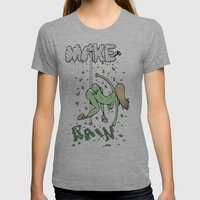 Make it Rain. Womens Fitted Tee Athletic Grey SMALL