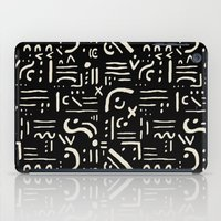Heiroglyph In Black iPad Case