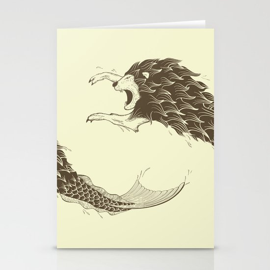 Merlion Stationery Card