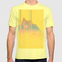 Landscape Study 01 Mens Fitted Tee Lemon SMALL