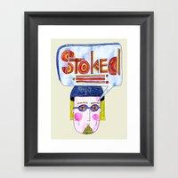 STOKED!!! Framed Art Print