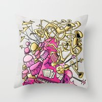 Musical Playground Throw Pillow