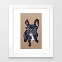 French Bulldog Framed Art Print