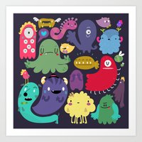 Colorful Creatures Art Print