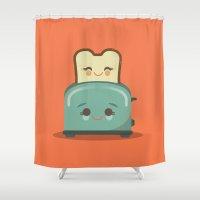 Toasty Buds Shower Curtain
