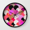 colour + pattern 22 Wall Clock