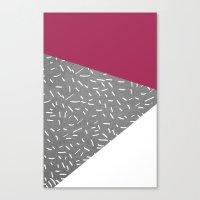 Concrete & Lines Canvas Print