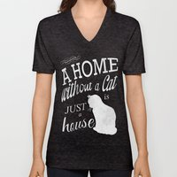 Home With Cat Unisex V-Neck