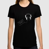 Music, Please! Womens Fitted Tee Black SMALL