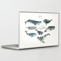 watercolor Laptop & iPad Skins featuring Whales by Amy Hamilton