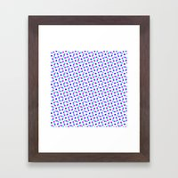 PINK & BLUE DOT Framed Art Print