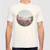 Holiday Mens Fitted Tee Natural SMALL