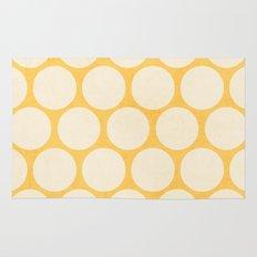 yellow and white polka dots Rug