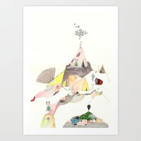 Kids Discover Magic Moun… Art Print