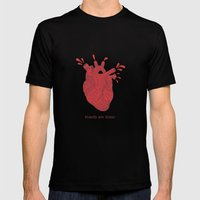 Hearts are Gross Mens Fitted Tee Black SMALL